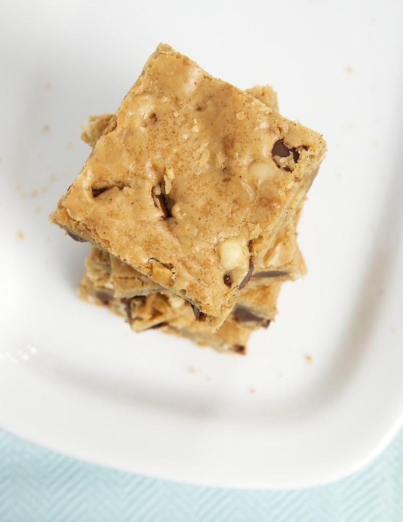 Hazelnut-Chocolate Chip Brown Butter Blondies | Bake or Break