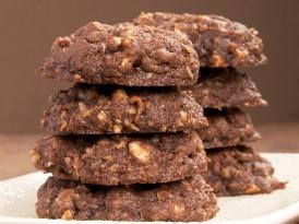 Triple Chocolate Coconut Cookies