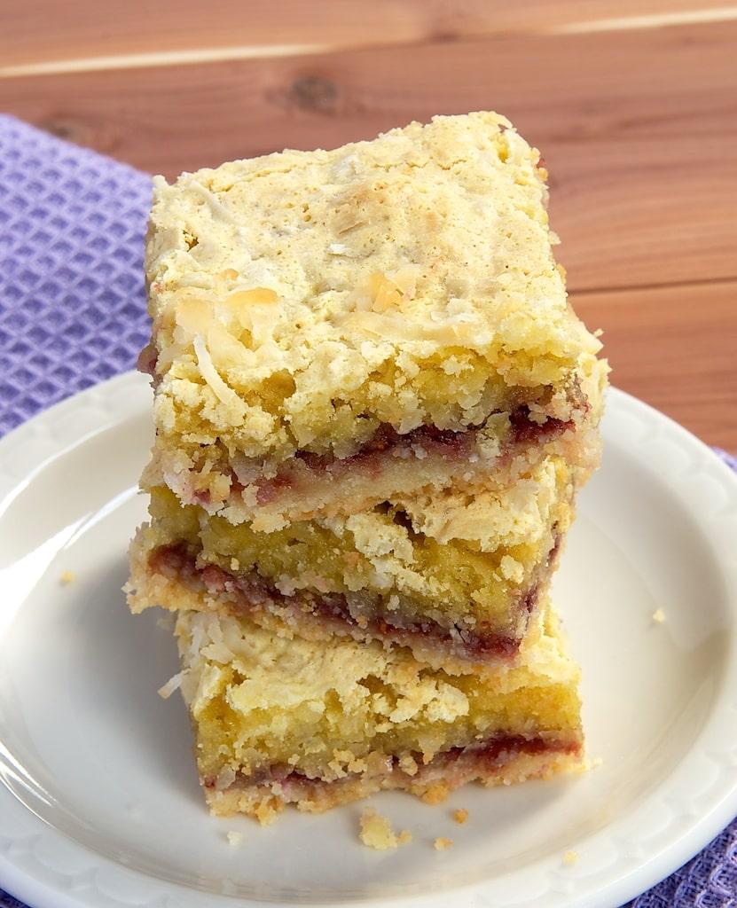 Coconut-Raspberry Bars | Bake or Break