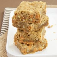 Butterscotch Caramel Crunch Blondies | Bake or Break
