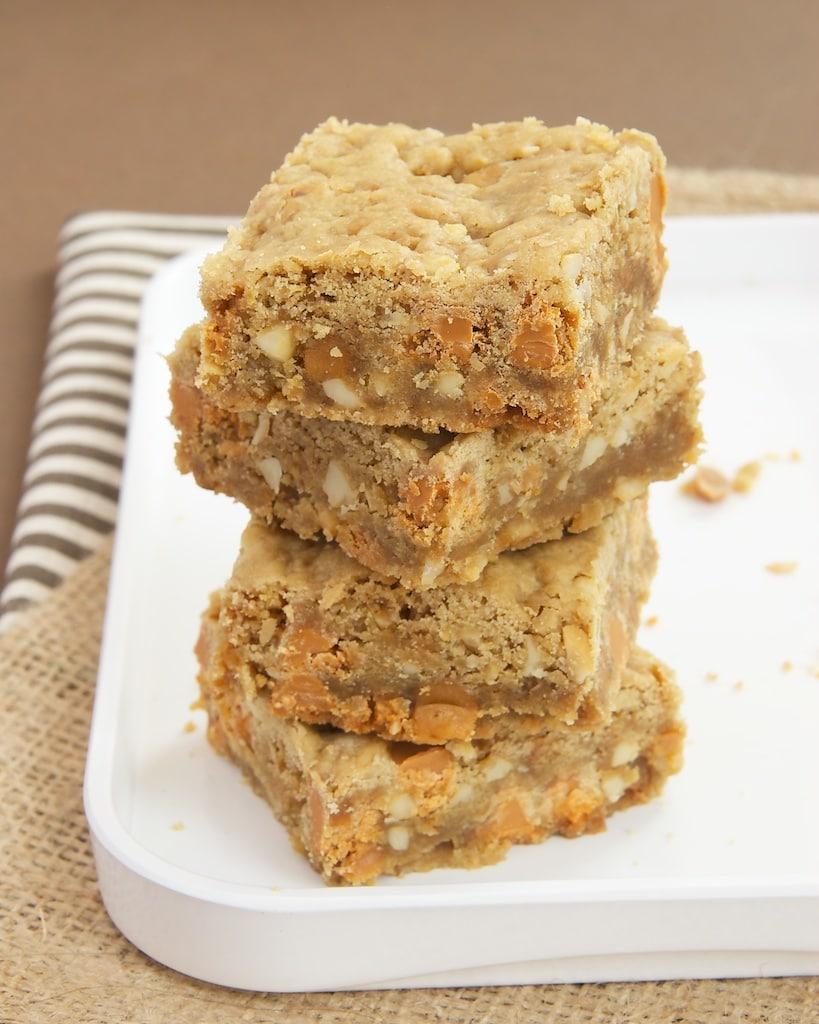 Butterscotch Caramel Crunch Blondies | Bake or Break