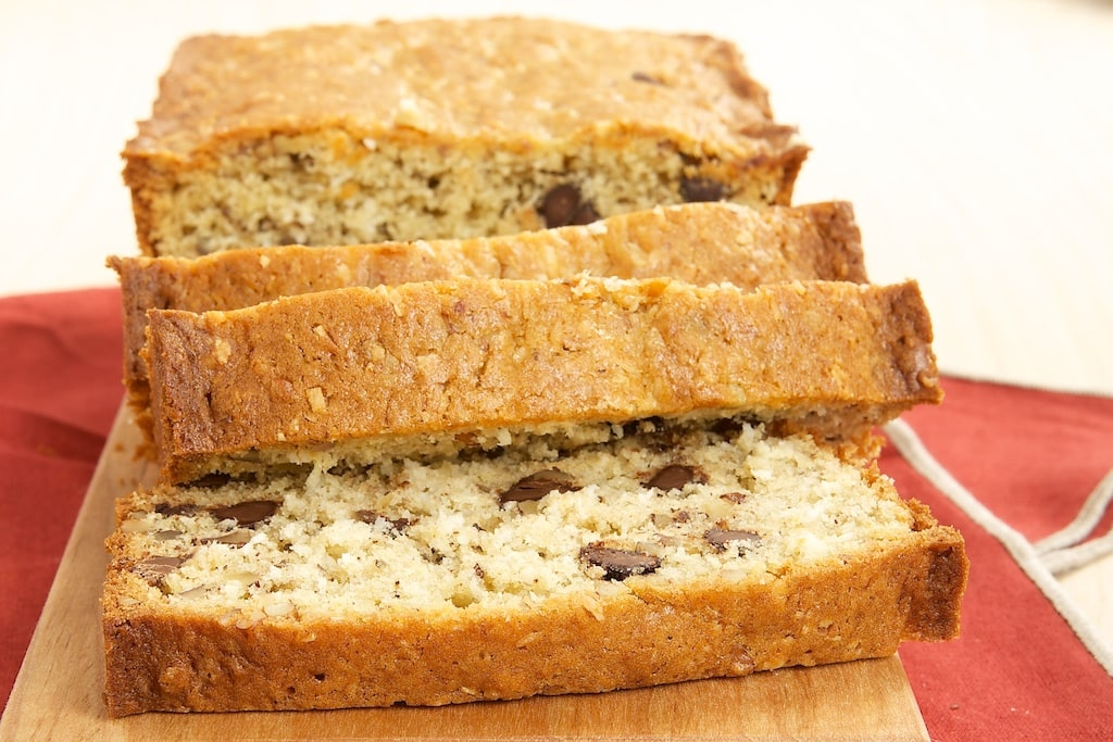 Chocolate, Coconut, and Pecan Bread is a delicious quick bread packed with all kinds of good stuff!