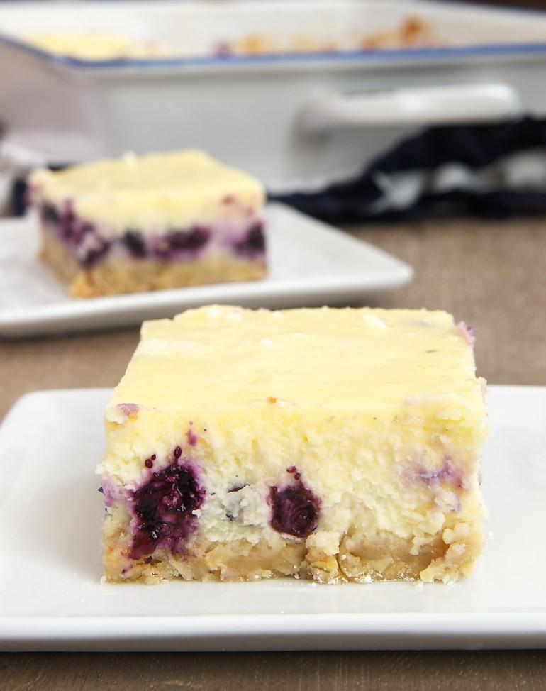 Blueberry Oat Cheesecake Bars - Bake or Break