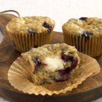 These cherry-studded muffins offer a sweet cream cheese surprise inside!