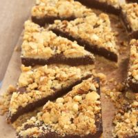 Fudgy Nutty Streusel Bars | Bake or Break