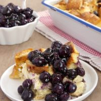 Blueberry Bread Pudding is simple to make and a perfect choice for everything from breakfast to dinner.