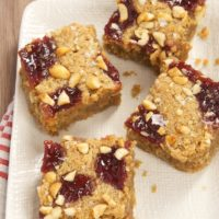 Salty Peanut Butter and Jelly Blondies | Bake or Break