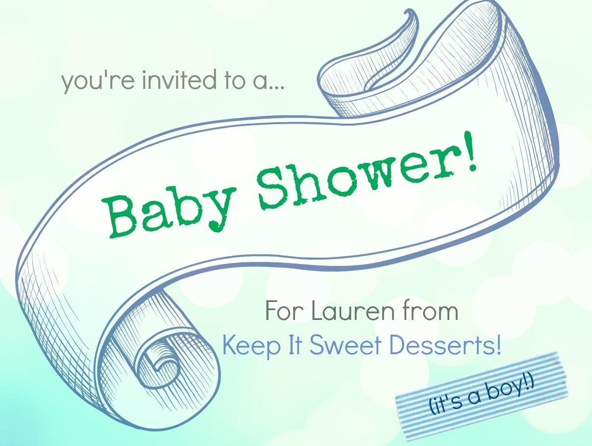 It's a baby shower for Lauren!