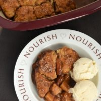 Apples, brown sugar, and cinnamon are an irresistible combination in Brown Sugar Apple Cobbler.