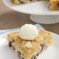 Blueberry Cake with Toasted Coconut Topping | Bake or Break