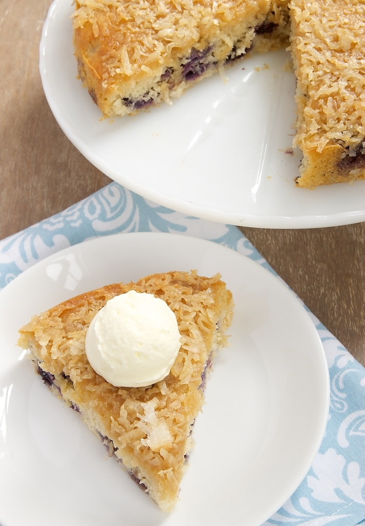 Fresh blueberries and toasty coconut make for a delicious cake that's quick and simple to make.