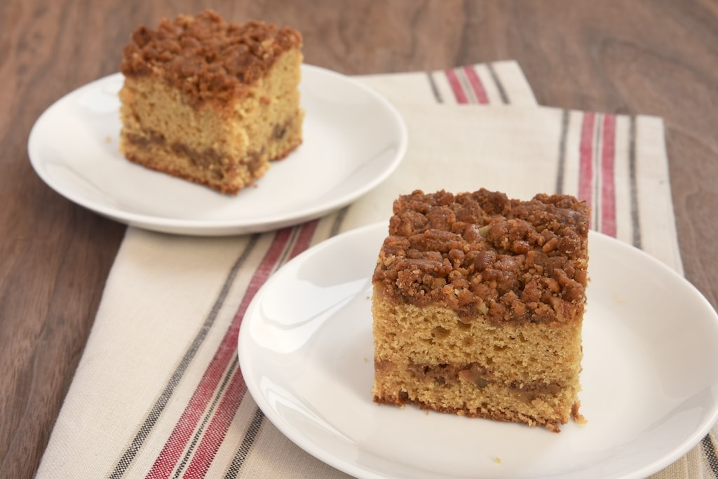 Caramel Crumb Coffee Cake adds a delicious caramel twist to traditional coffee cake.