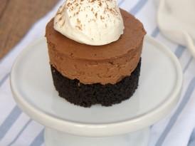 Mini No-Bake Chocolate Cheesecakes