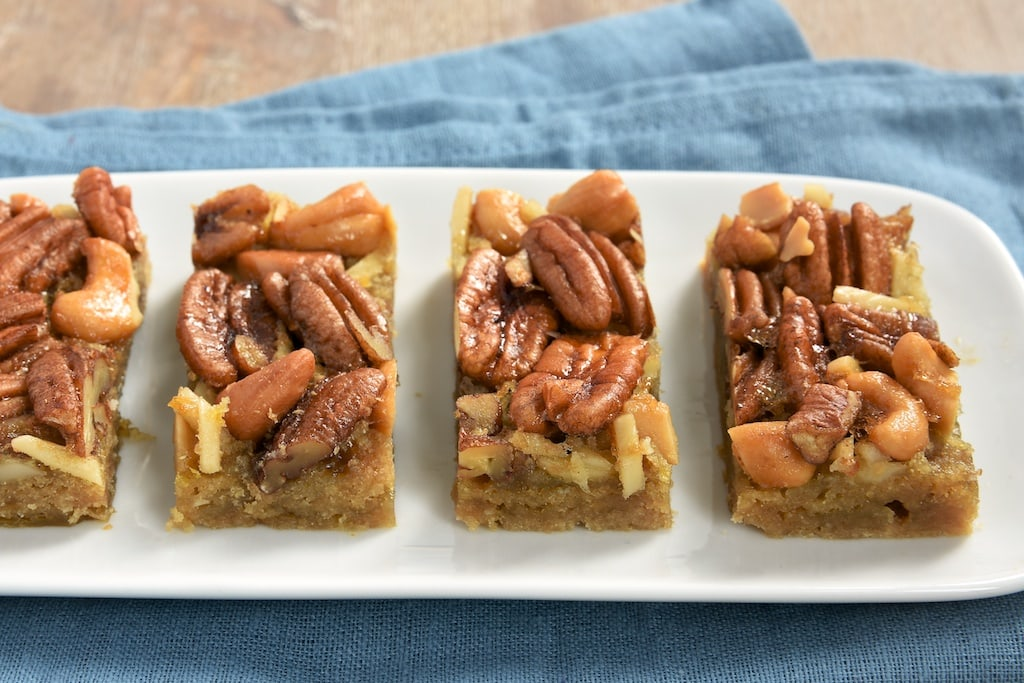 Maple syrup adds a sweet, rich flavor to these Maple Nut Bars. A fall favorite!
