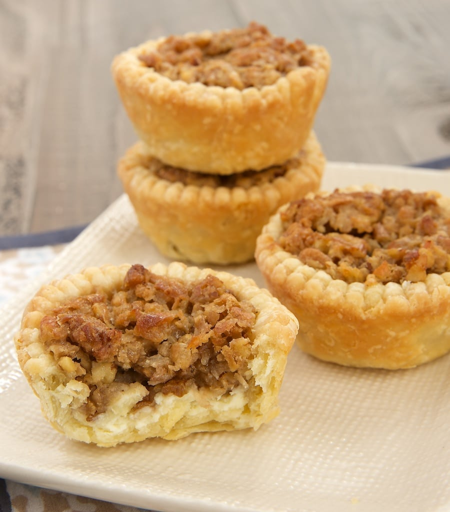 How do you improve on pecan pie? With coconut and cream cheese, of course! Coconut Pecan Tarts at Bake or Break