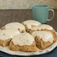 Spiced Oat Scones with Brown Butter Glaze are a perfect choice for a special morning treat!
