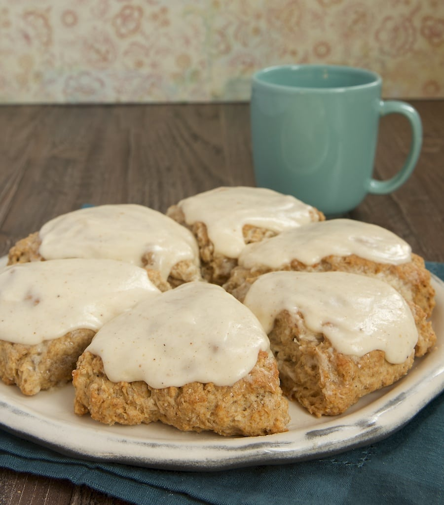 Spiced Oat Scones with Brown Butter Glaze are a perfect choice for a ...
