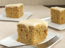 Peanut Butter Cake with Maple Cream Cheese Frosting