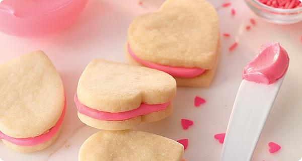 Almond Shortbread Sandwich Cookies Recipe — Dishmaps