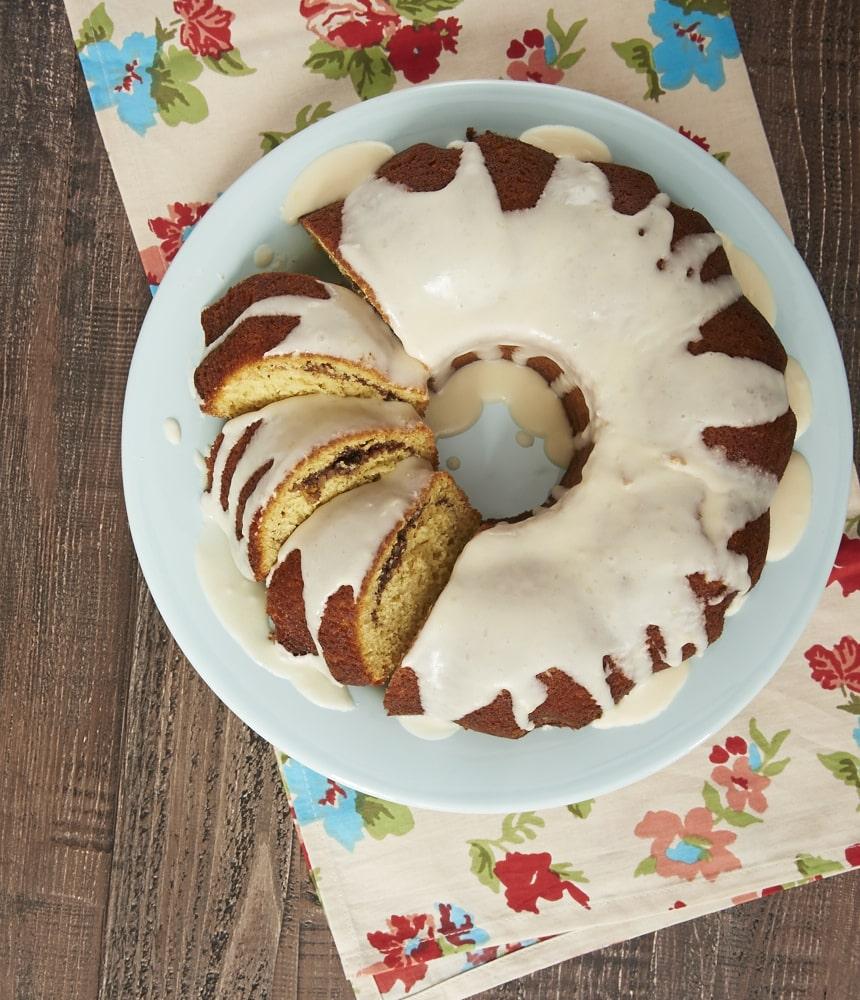 This Cinnamon Breakfast Cake is a terrific sweet treat for a special breakfast or brunch! - Bake or Break