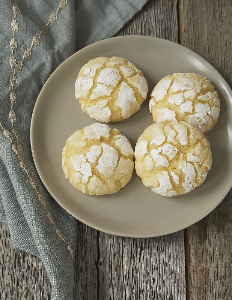 Key limes add a sweet, tart flavor to these Key Lime Crinkle Cookies! - Bake or Break
