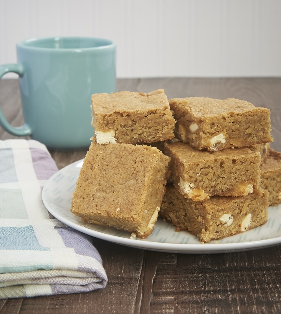 Spiced White Chocolate Blondies offer a tasty blend of sweet and spice. These are not your everyday blondies! - Bake or Break