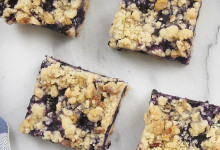 Blueberry Pecan Shortbread Bars