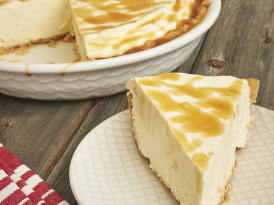 Salted Caramel Whipped Cream Pie