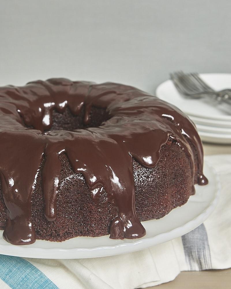 Bourbon Chocolate Cake With Caramel Whipped Cream