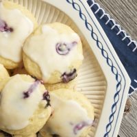 Blueberry Lemon Cookies are soft, cake-like cookies studded with fresh blueberries and bursting with big lemon flavor! - Bake or Break