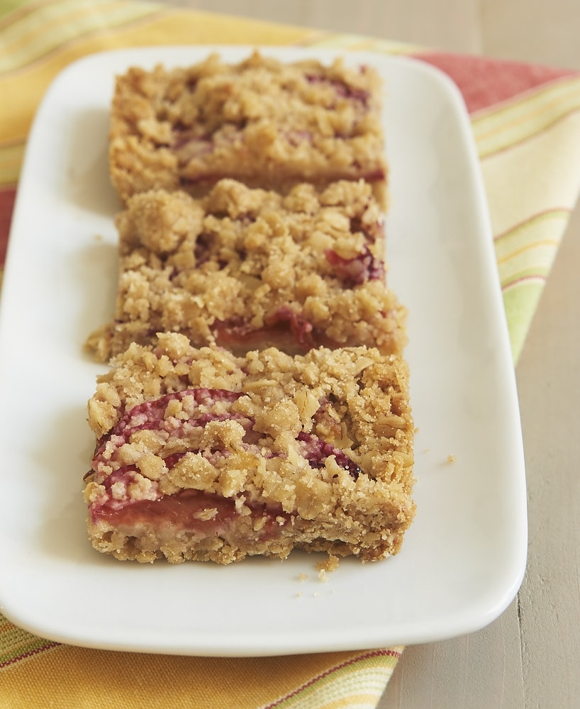 Sweet plums combine with a buttery, oat-filled crust for these irresistible Plum Crumble Bars! - Bake or Break