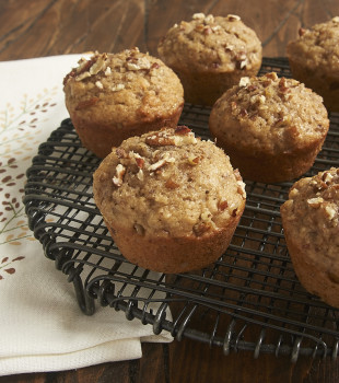 Crunchy pecans and a blend of spices combine to make these fantastic Pecan Spice Muffins! - Bake or Break