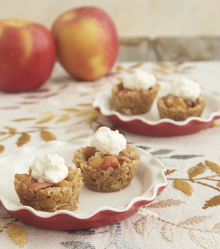 Apple Crisp Bites turn traditional apple crisp into bite-sized treats with the fantastic flavors of apples, oats, and cinnamon! - Bake or Break