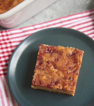 Use your favorite jam or preserves to turn simple blondies into Jam-Swirled Blondies. A sure crowd-pleaser! - Bake or Break