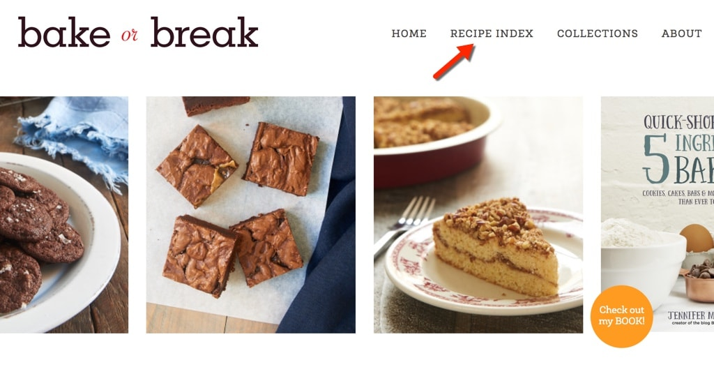 Bake or Break Recipe Index