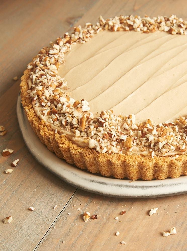vanilla wafer crust, bananas, and a no-bake brown sugar cheesecake ...