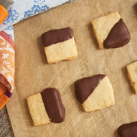 Chocolate-Dipped Hazelnut Shortbread | Bake or Break
