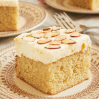 Brown Butter Almond Cake with Apricot Whipped Cream is such a lovely, nutty, sweet, and delicate cake. What an amazing flavor combination! - Bake or Break
