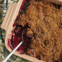 Sweet cherries and berries combine with a nutty, brown sugar crumb topping for this quick, easy, and delicious Cherry Berry Crumble. - Bake or Break.