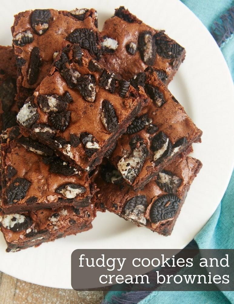 Fudgy Cookies and Cream Brownies - Bake or Break
