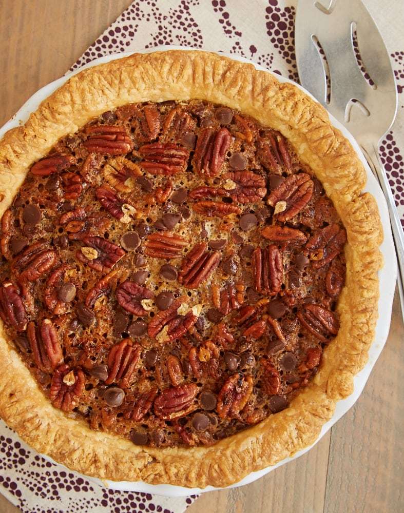Chocolate Chip Coconut Pecan Pie - Bake or Break
