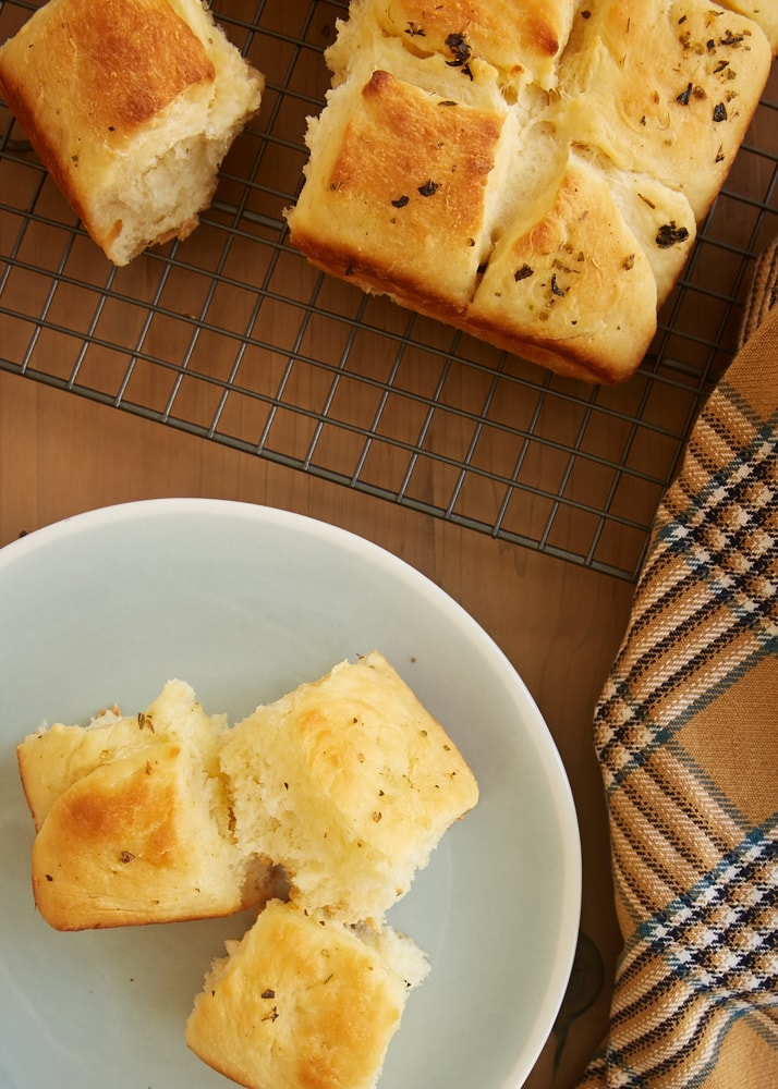 Quick Herbed Dinner Rolls make yeast baking so easy. They mix quickly and only need a short time to rise. And they are wonderfully soft and oh so delicious! - Bake or Break