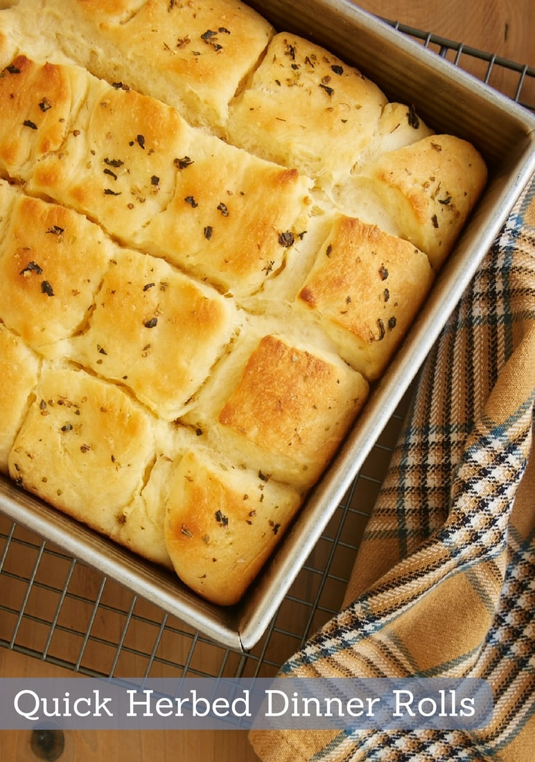 Quick Herbed Dinner Rolls make yeast baking so easy. They mix quickly and only need a short time to rise. And they are wonderfully soft and oh so delicious!