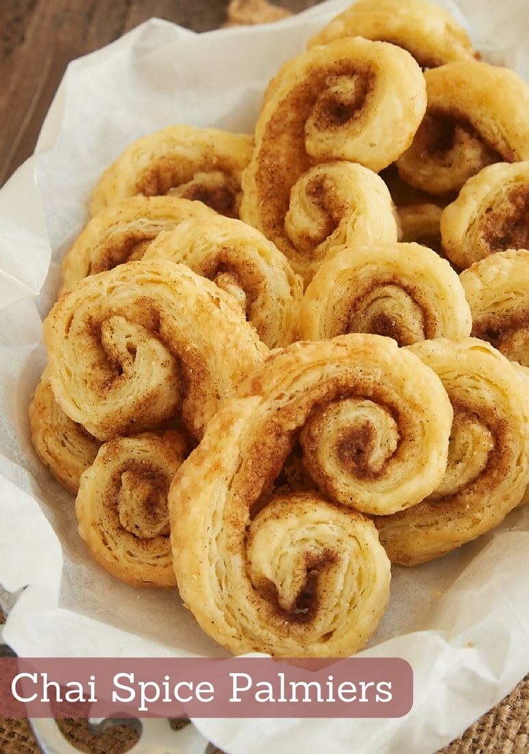Chai Spice Palmiers are made with a simplified pun pastry and a delicious blend of spices. They're part pastry, part cookie, and completely fantastic! - Bake or Break