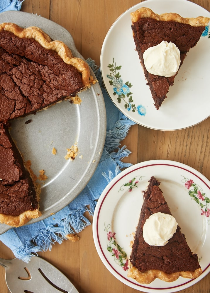 Chocolate Chess Pie is a rich, fudgy twist on a classic dessert. A must for chocolate lovers! - Bake or Break