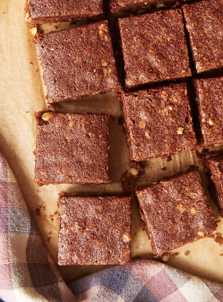 Hazelnut Mocha Brownies combine chocolate and coffee in an irresistibly delicious way! - Bake or Break