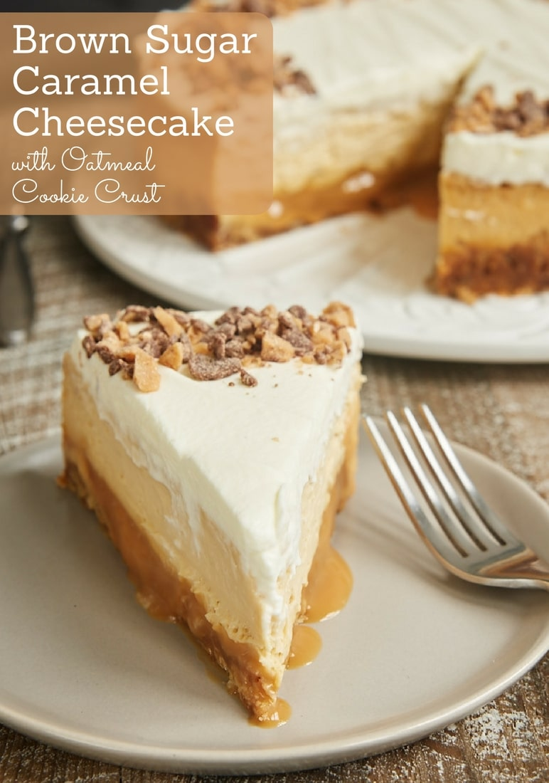This Brown Sugar Caramel Cheesecake has SO many delicious layers. The flavor is AMAZING! - Bake or Break