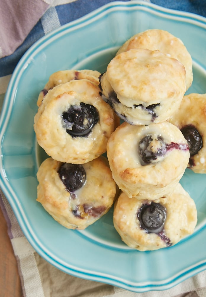 These sweet Glazed Blueberry Cream Cheese Biscuits are a perfect sweet treat for a special breakfast or brunch. - Bake or Break