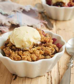 This quick and easy Skillet Berry Crumble is such a great way to enjoy your favorite berries. A warm bowl full of this crumble with a scoop of ice cream is tough to beat! - Bake or Break
