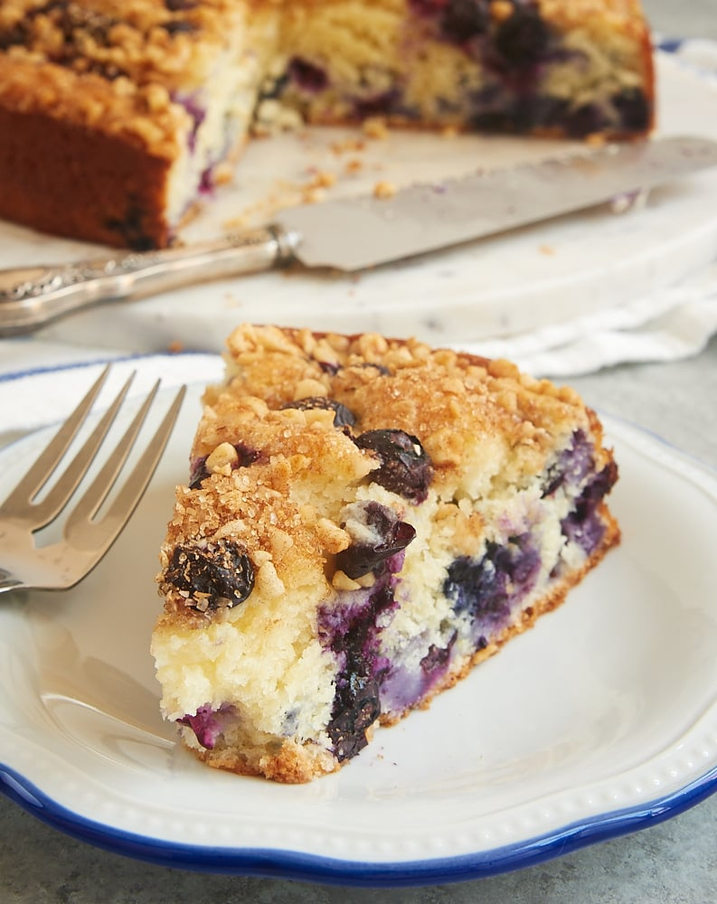 This quick and easy Blueberry Coffee Cake is ALL about the blueberries. Such a lovely cake for breakfast, an afternoon snack, or a lightly sweet dessert! - Bake or Break